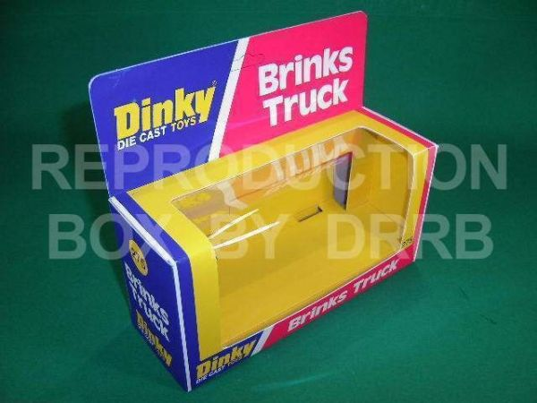 Dinky #275 Brinks Truck - USA issue - Reproduction Box
